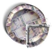 Fatia de torta norueguesa do dinheiro do Kronor Imagem de Stock