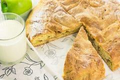 Fatia de uma torta de maçã Imagem de Stock