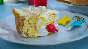 Fatia deliciosa de bolo Fotografia de Stock Royalty Free