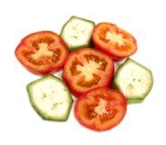Fatia do &banana do tomate Imagem de Stock Royalty Free