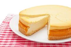 Fatia do bolo de queijo Fotos de Stock Royalty Free