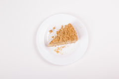 Fatia do bolo de queijo foto de stock