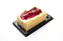Fatia do bolo de queijo do mirtilo Fotografia de Stock