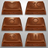 Fatia do chocolate Imagem de Stock Royalty Free