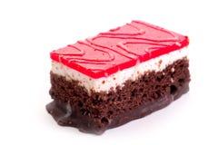 Fatia do chocolate de bolo imagem de stock royalty free