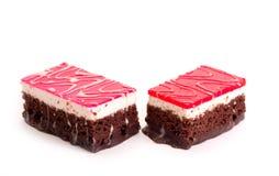 Fatia do chocolate de bolo foto de stock royalty free