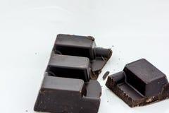 Fatia do chocolate preto Fotos de Stock Royalty Free
