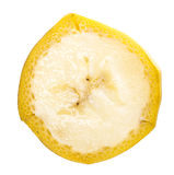 Fatia do fruto da banana Foto de Stock Royalty Free