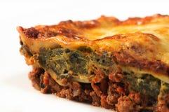 Fatia do Lasagna imagem de stock