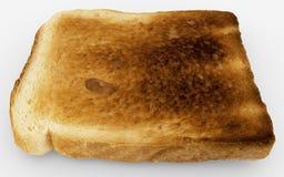 Fatia do pão - único close-up cozido do brinde - isolada no branco ilustração stock