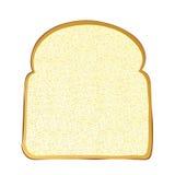 Fatia do pão branco ilustração do vetor