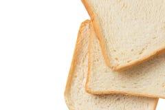 Fatia do pão branco isolada no branco Fotografia de Stock