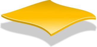 Fatia do queijo Ilustração do Vetor