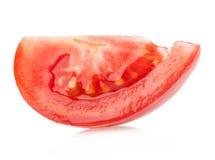 Fatia do tomate isolada no branco imagens de stock