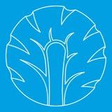 Fatia fresca de esboço do ícone dos brócolis Foto de Stock Royalty Free