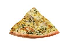 Fatia italiana deliciosa da pizza imagens de stock royalty free