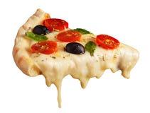 Fatia quente da pizza imagem de stock