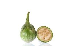 Fatia verde da beringela Fotografia de Stock Royalty Free