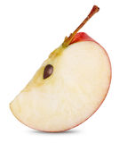 Fatia vermelha da maçã Imagem de Stock