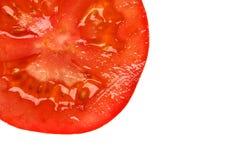 Fatia vermelha do tomate Foto de Stock Royalty Free