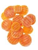 Fatias congeladas da cenoura fotografia de stock