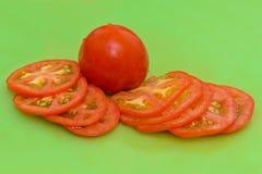 Fatias cortadas do tomate Foto de Stock Royalty Free