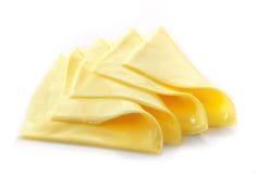 Fatias cremosas do queijo processado Foto de Stock