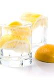 Fatias da água e do limão de soda Imagens de Stock Royalty Free