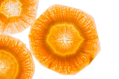 Fatias da cenoura como a textura do fundo Fotografia de Stock Royalty Free