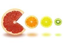 Fatias da fruta imagem de stock