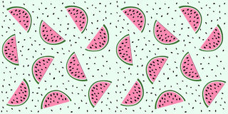 Fatias da melancia Fotografia de Stock