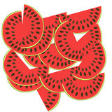 Fatias da melancia Ilustração do vetor Frutis Foto de Stock Royalty Free
