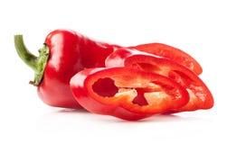 Fatias da pimenta vermelha Foto de Stock Royalty Free