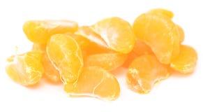 Fatias da tangerina Foto de Stock Royalty Free