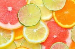 Fatias das citrinas Fotos de Stock Royalty Free