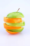 Fatias de Apple e de laranjas Fotografia de Stock