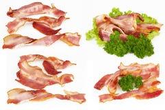 Fatias de bacon Fotografia de Stock