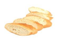 Fatias de baguette do pão Imagem de Stock