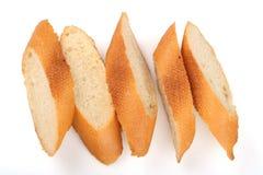 Fatias de baguette do pão Imagem de Stock Royalty Free
