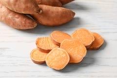 Fatias de batatas doces Fotografia de Stock Royalty Free
