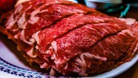 Fatias de carne Fotos de Stock Royalty Free