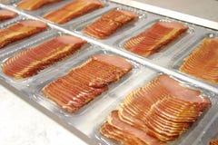 Fatias de carne Fotografia de Stock