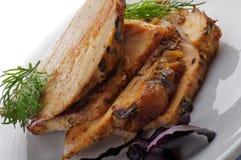 Fatias de carne de porco Roasted Fotos de Stock Royalty Free