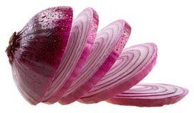 Fatias de cebola Imagem de Stock Royalty Free
