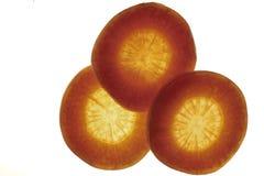 Fatias de cenoura Foto de Stock
