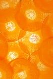 Fatias de cenoura Fotografia de Stock