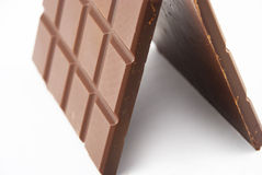 Fatias de chocolate Fotografia de Stock Royalty Free