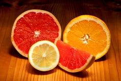 Fatias de citrino Foto de Stock