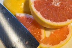 Fatias de citrino Imagens de Stock