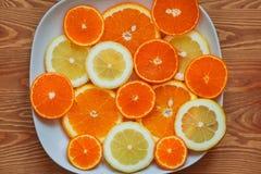 Fatias de citrino Fotografia de Stock